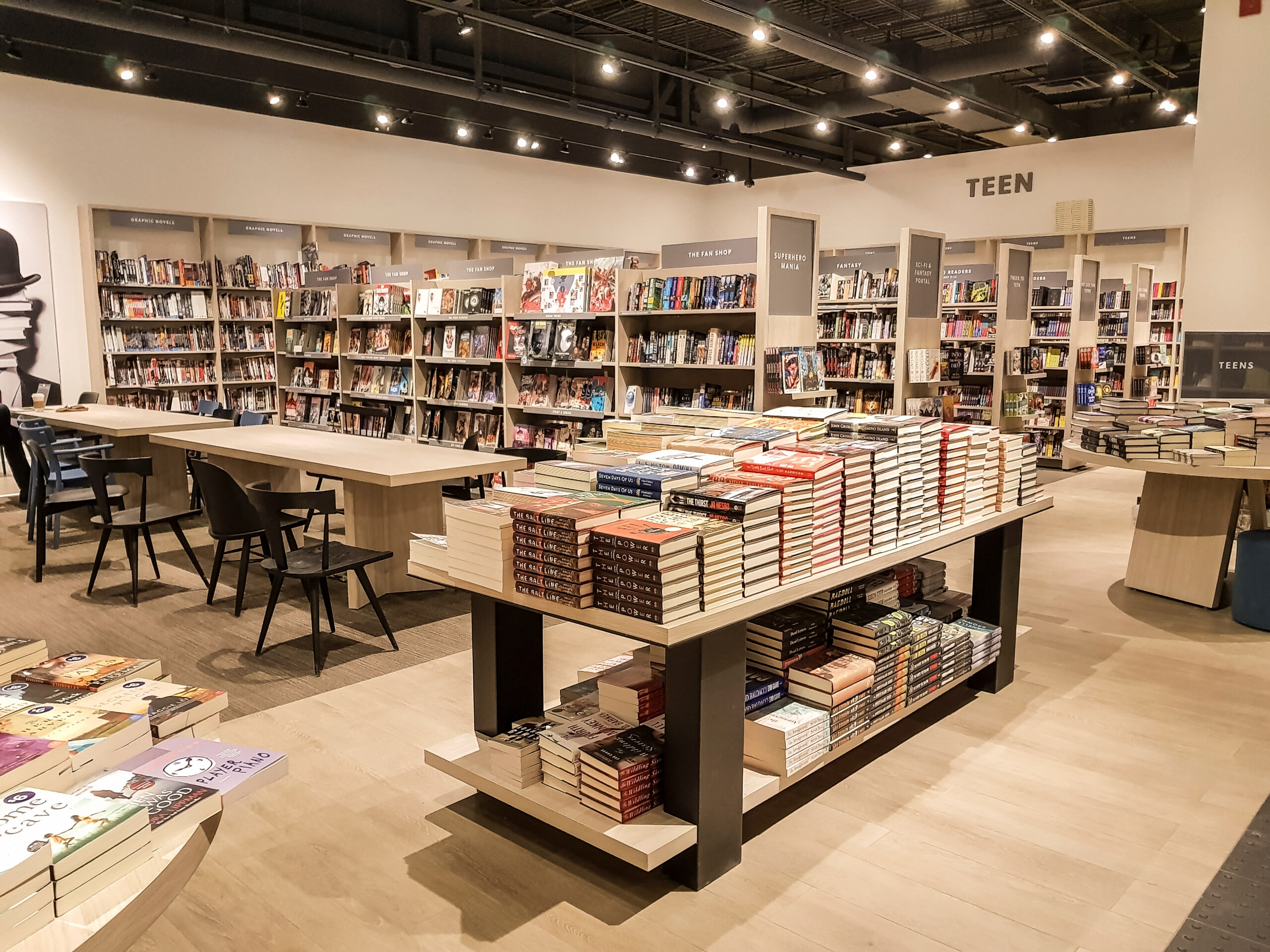 Study at bookstores